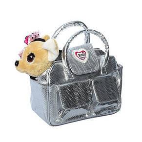 Собачка с сумочкой Кикки музыкальная 22 см, фото 2