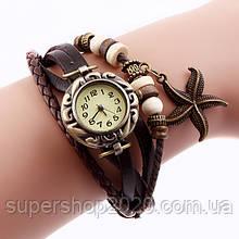 Часы-браслет винтажные Stars Brown