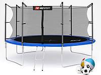 Батут Hop-Sport Hop-Sport 14ft (427cm) blue с внутренней сеткой для дома и спортзала, Львов