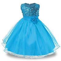 Нарядное детское платье с пайетками на 5-6 лет