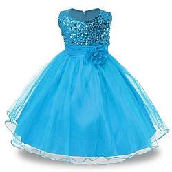 Нарядное детское платье с пайетками на 7 лет