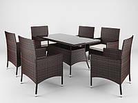 Набор садовой мебели из ротанга TRAPANI 7 коричневый, для дома, сада, кафе, ресторанов, Львов