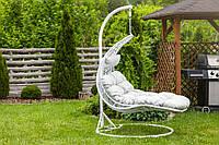 Садовое плетенное кокон кресло из ротанга Capacio white, Львов