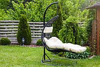 Садовое плетенное кокон кресло из ротанга Capacio black, Львов