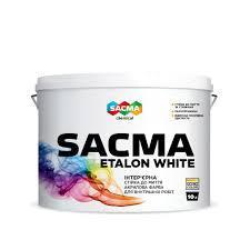 Стойкая к мытью краска для внутренних работ SACMA ETALON White 10 л