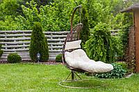 Садовое плетенное кокон кресло из ротанга Capacio brown, Львов