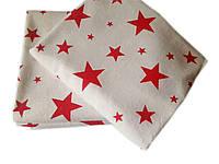 """Пеленка байковая """"Красные звезды"""" (90*80, 110*90)"""
