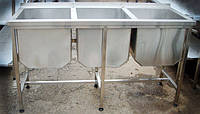 Ванна моечная 3-х секционная 1800х600х850мм
