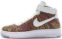 Nike Air Force 1 Flyknit Multicolor   мужские кроссовки; летние; высокие; цветные