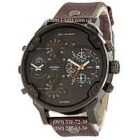 Мужские часы Diesel Brave black-brown, кварцевые, элитные часы Дизель Брейв, кожаный ремешек