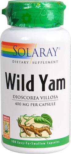 Дискорея мохнатая Solaray  Wild Yam 400 мг 100  капс