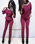 Женский стильный брючный костюм: блуза и брюки (4 цвета), фото 3
