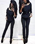 Женский стильный брючный костюм: блуза и брюки (4 цвета), фото 2