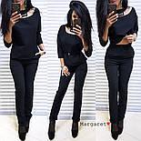 Женский стильный брючный костюм: блуза и брюки (4 цвета), фото 4