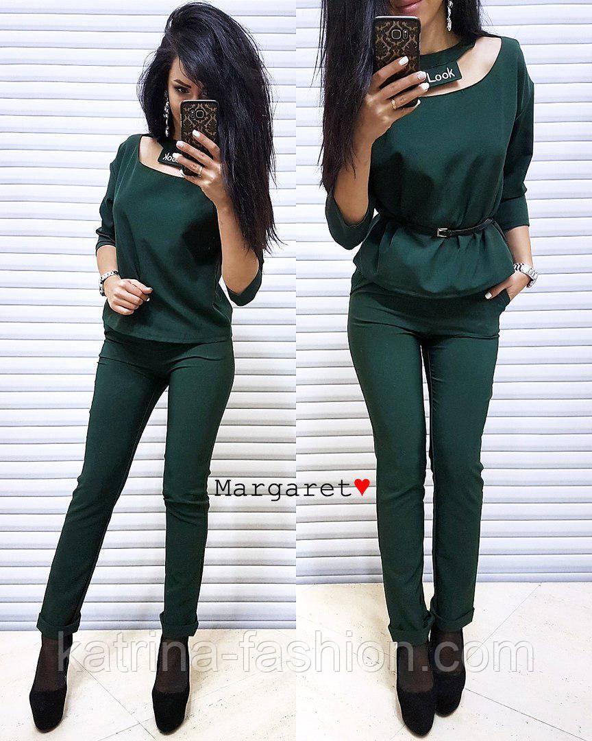 Женский стильный брючный костюм: блуза и брюки (4 цвета)