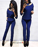 Женский стильный брючный костюм: блуза и брюки (4 цвета), фото 6