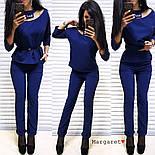 Женский стильный брючный костюм: блуза и брюки (4 цвета), фото 7