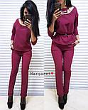 Женский стильный брючный костюм: блуза и брюки (4 цвета), фото 8