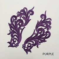 Кружевной фрагмент (лейс) Глория фиолетовый, 22х9 см. Цена за 1 шт