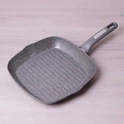 Сковорода-гриль Kamille 28*28*4 см с гранитным покрытием без крышки
