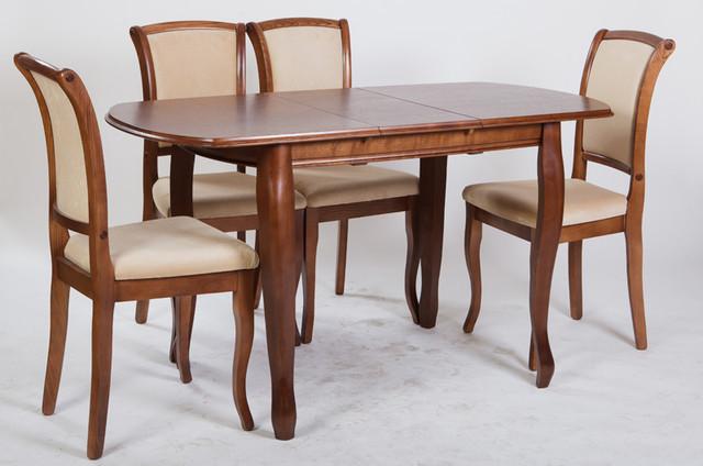 Раскладной стол для кухни Турин Микс мебель, цвет орех /темный орех