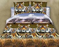 Двуспальный набор постельного белья из Ранфорса №025