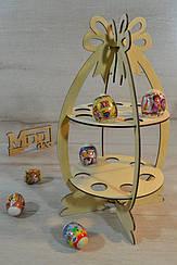 Деревянная пасхальная подставка,  под кулич и яйца Бант