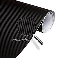 Пленка карбон 3D черный 100х152 см. текстура мелкая 2х3 мм.
