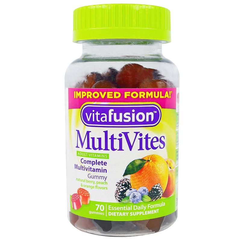 Vitafusion MultiVites™ Complete Полівітаміни ДЛЯ ПІДЛІТКІВ і дорослих 70 шт
