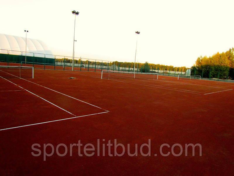 Строительство грунтовых теннисных кортов