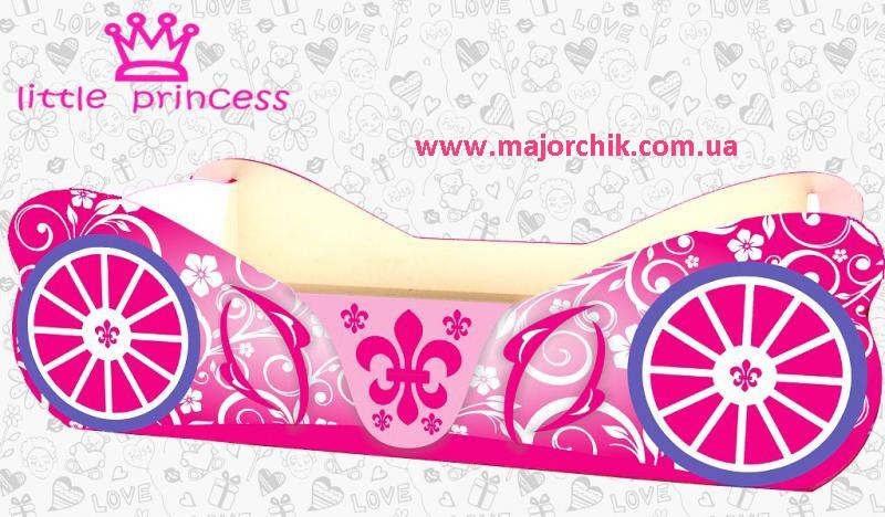 Кровать Карета Маленькая Принцесса розовая Little Princess