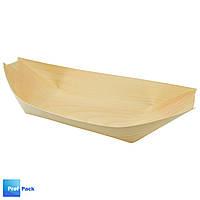 Тарелка деревянная Лодочка, 21,5х10 см, 1 шт