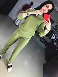 """Женский, вязаный, спортивный костюм модного фасона """"Контрастная отделка"""" РАЗНЫЕ ЦВЕТА"""