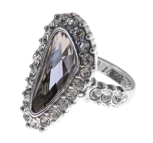 "Кольцо ""Морена"" с кристаллами Swarovski, покрытое серебром (r4403066) (Потемнело темнее чем на фото) - Andrew в Днепре"