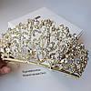 """Шикарная и большая диадема - корона """"Злата"""" для невесты."""