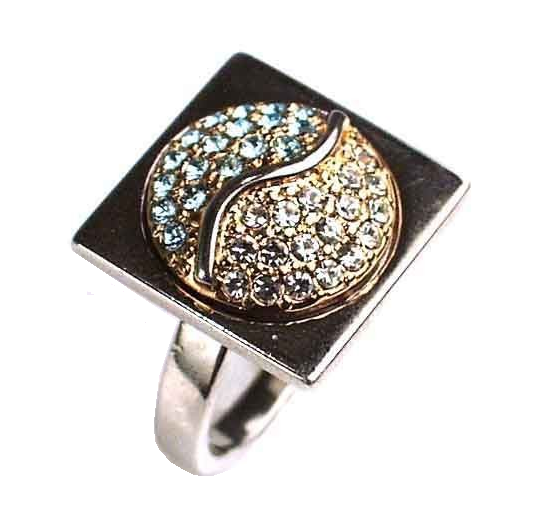 "Кольцо ""Арс"" с кристаллами Swarovski (d887x070) - Andrew в Днепре"