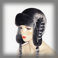 Меховая шапка ушанка из шиншилы