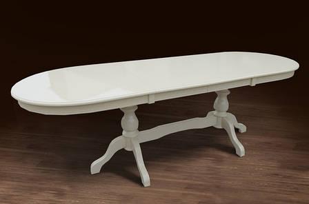 Стол обеденный Оскар Люкс Микс мебель, цвет  слоновая кость /  белый, фото 2