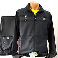 Мужской чёрный трикотажный костюм SOCCER, размер 52-54.