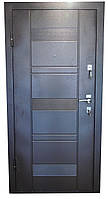 Двери входные металл/мдф (коричневая), фото 1