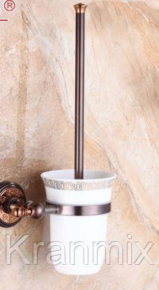 Ершик для унитаза бронза  Aquaroom Ершик вантуз для унитаза настенный (подвесной) бронза