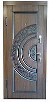 Двері вхідні зовнішні з МДФ з Патиною, Арма 223. Вхідні двері для приватного будинку, фото 1