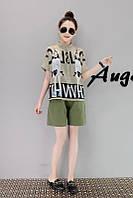 Женский костюм шорты и рубашка