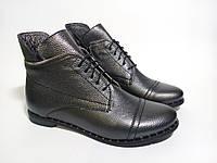 Ботинки женские кожаные цвет серый