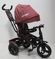 Триколісний велосипед-коляска Azimut Crosser T-400 TRINITY AIR ЕКО New теракотовий