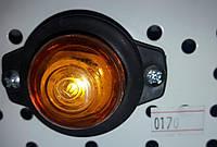 Габаритні вогні для вантажівок Круглі, Ліхтар габаритний причепа, габарити ріжки міні, фото 1