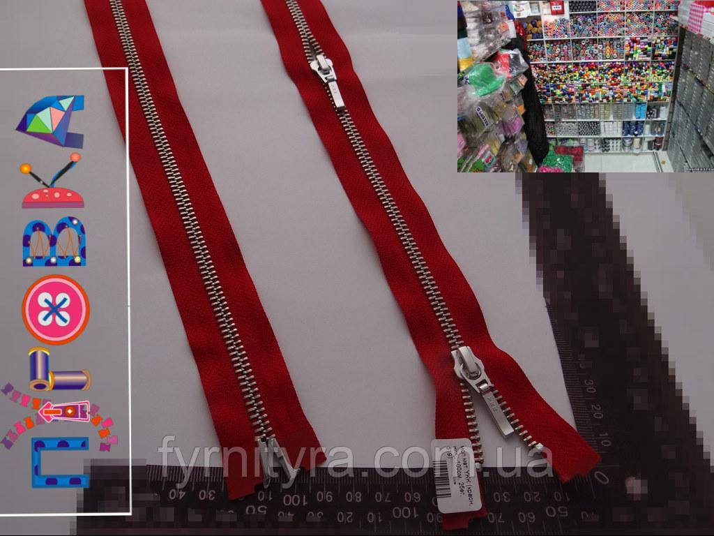 Металл YKK 100cm 519 красная 2 бег №5 никель