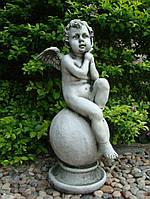 Садовая фигура Ангел на шаре 36×34.5x64cm
