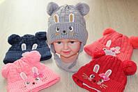 Детские вязаные шапки весна опт