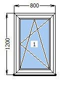 Окно  800 х 1200